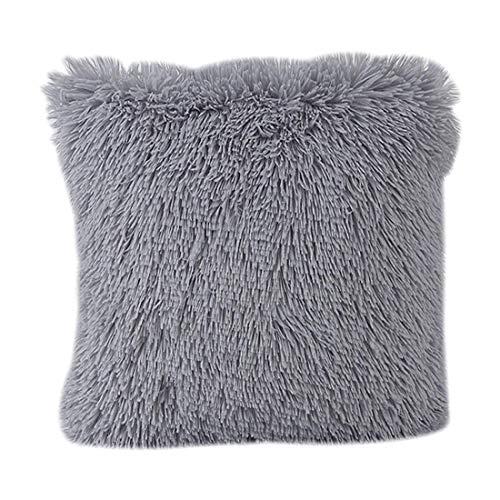 Basico Fluffy Plush Square Waist Throw Cushion Cover Throw Pillow Cushion Sofa Home Decoration