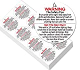 2' Candle Warning Labels for Soy Waterproof Candle Jar Container Stickers - Candle Safety Sticker Labels 320 Decals Per Roll for Candle Jars,Tins and Votives