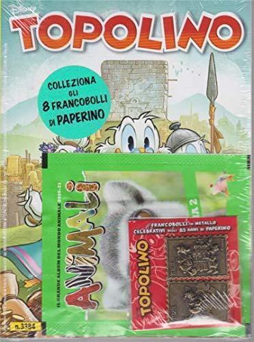 TOPOLINO CON FRANCOBOLLI n 3384