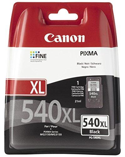 Canon PG-540XL Cartucho tinta original Negro XL para Impresora Inyeccion de tinta Pixma MG2150-2155-2250-2255-3150/55-3250/55-3550-3650-3650S-4150-4250-MX375-395-435-455-475-515-525-535S-TS5150-5151