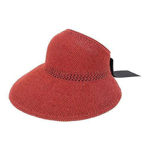SUNNYTYM Sombrero para El Sol Sombrero De Paja del Verano De Las Mujeres Que Monta El Sombrero De La...