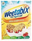 Weetabix Original Whole Grain - Cereali per la colazione - Cereali integrali - Alta fibra, basso contenuto di zucchero, basso contenuto di grassi - 1x430g