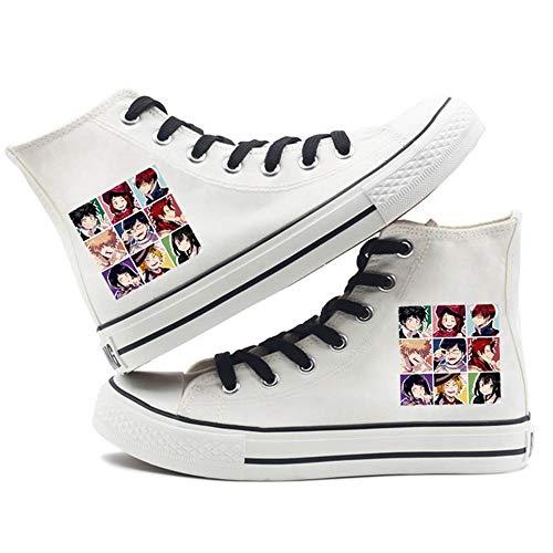 SevenLeo Zapatillas Hombre Zapatos Hombre Zapatillas Mujer Bambas Mujer Unisex Zapatillas Lona Zapatos Casuales Zapatos De Niño Niña Zapatos My Hero Academia Anime Shoes 37