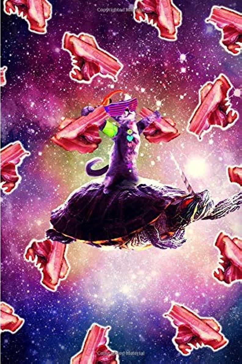 罪専制押し下げるRave Space Cat On Turtle Unicorn - Bacon Daily Weekly Planner