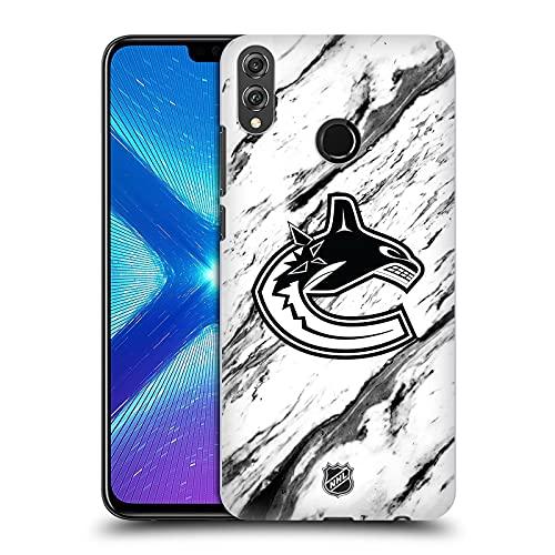 Head Case Designs Licenciado Oficialmente NHL Mármol Canucks de Vancouver Carcasa rígida Compatible con Huawei Honor 8X / View 10 Lite