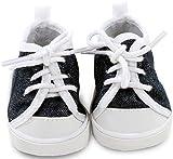 Götz 3402543 Sneaker Denim Puppenschuhe - Puppenkleidung & Puppenzubehör für Babypuppen Gr. S von...