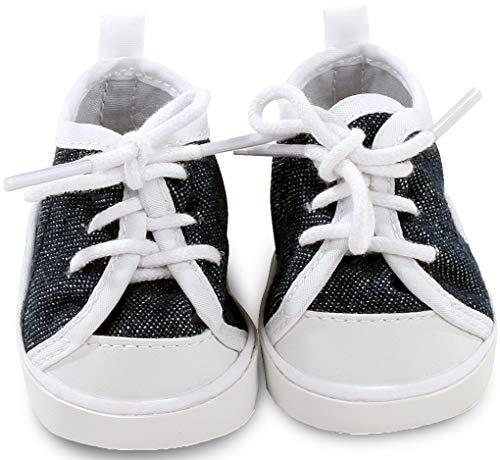 Götz 3402544 Sneaker Denim Puppenschuhe - Puppenkleidung & Puppenzubehör für Babypuppen Gr. M von 42 - 46 cm und Stehpuppen Gr. XL von 45 - 50 cm