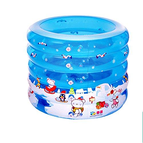 GYL opblaasbare badkuip persoonlijkheid cirkel pool baby kind blauw geschikt voor 1-2 personen 100 x 70 x 75 cm