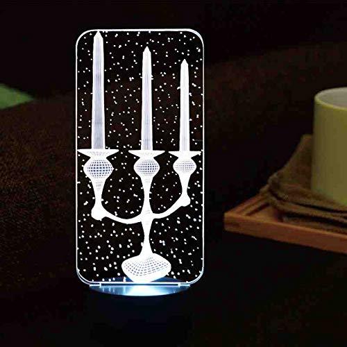 MCJDF 3D led-kandelaar vorm nachtlampje 7 kleuren veranderen sfeer touch button tafel bureaulamp nieuwigheid lamp wooncultuur