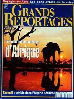 GRANDS REPORTAGES [No 195] du 01/04/1998 - VOYAGER EN ASIE - LES PLUS BELLES RESERVES D'AFRIQUE - PERIPLE DANS L'ALGERIE DECHIREE