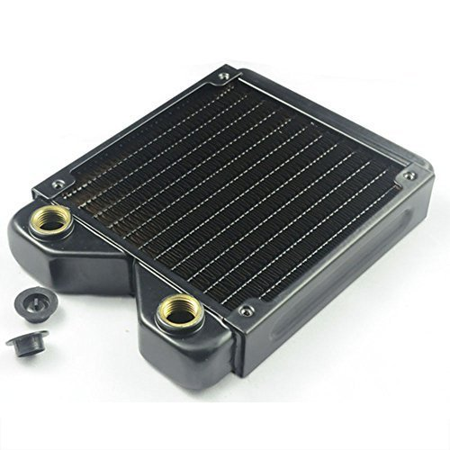 BXQINLENX 120 Pure Copper 12 Pipe Heat Exchanger Radiator for PC CPU CO2 Laser Water Cool System Computer