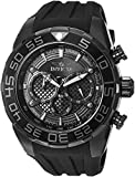 Invicta Men's Speedway Stainless Steel Quartz Watch with Silicone Strap, Black, 32 (Model: 26309)