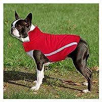 SHUHAO 大型犬服冬ブルドッグのコート犬服ペット服チワワパグ (Cor : Vermelho, Tamanho : S)