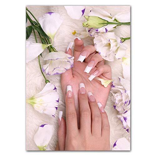 Maniküre dekorative Malerei Poster Mode Fingernagel Wandkunst Malerei Beauty Shop Bild Wandbilder, 40x60cm