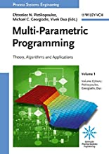 multi parametric programming theory algorithms and applications