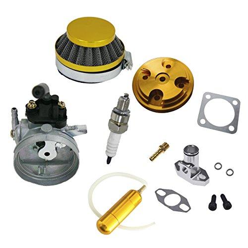 JRL Cubierta de la cabeza del cilindro CNC amarillo plata tubo de entrada para motor de bicicleta motorizada de 80cc