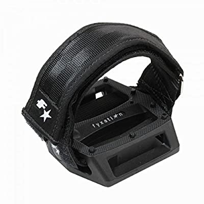 Fyxation Gates Pedal Strap Kit with Black Pedal and Black Straps