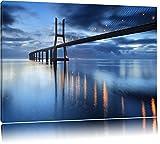 Gewältige Brücke Ponte Vasco da Gama Lissabon Format: