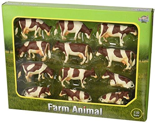 Kids Globe 571968 - Kühe bunt liegend/stehend 12 Stück