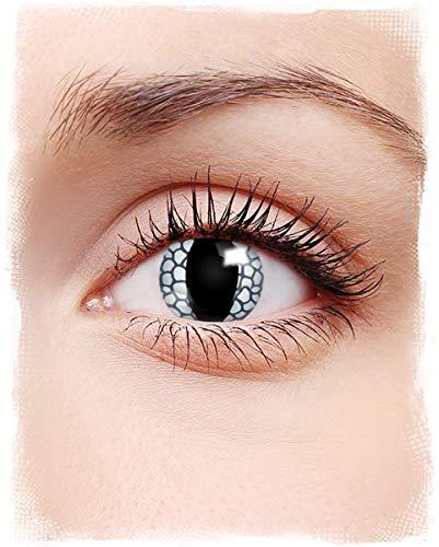 Horror-Shop Weißes Drachenauge Fantasy Kontaktlinsen