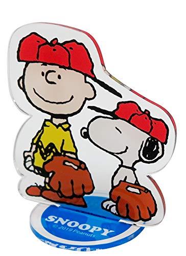明邦 SNOOPY スヌーピー チャーリー・ブラウン 野球 アクリルクリップ チケットホルダー SN194