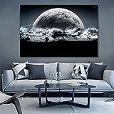 Cuadro de pared de ciencia ficción paisaje lienzo pintura HD impresión planeta pintura decoración del hogar pintura sobre lienzo obra de arte 60x90cm sin marco