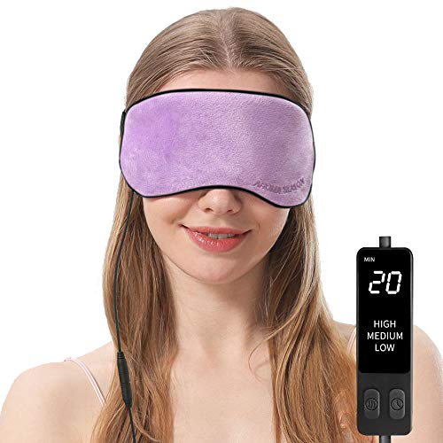 Heated Eye Mask, USB Steam Warm Compress for Puffy Eyes, Warm Therapeutic Treatment for Dry Eye, Chalazion, Blepharitis, Stye (Violet)