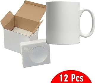 11oz Sublimation Mugs With Gift Mug Box. Mugs - Cardboard Box with Foam Supports Case of 12