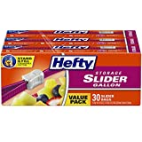 Hefty Slider Storage Bags, Gallon Size, 30 Count (3 Pack), 90 Total