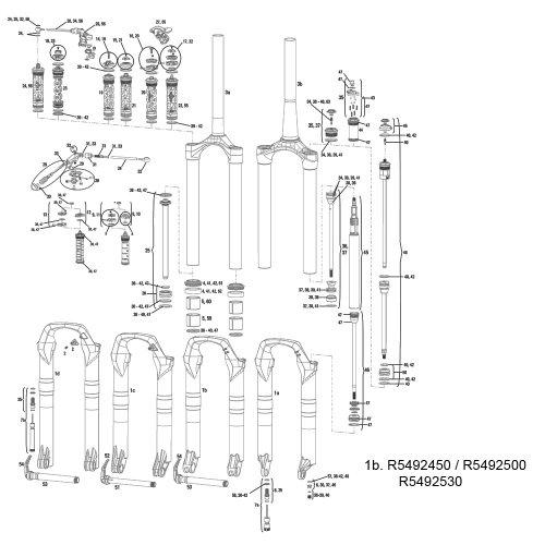RockShox Unterschenkel Revelation Dual Position Air 262010–2012, Maxle 15mm–schwarz, Unisex, schwarz/Silber, 9 mm