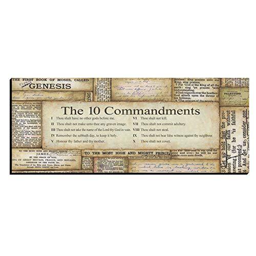 10 Commandments, One 20x8 Mounted Art by Stephanie Marrott