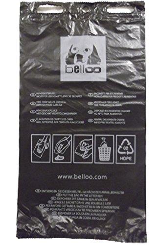 BELLOO 1000 Hundekotbeutel Made IN Germany ca.20x33cm Recycling-HDPE. Achtung: SOG. 'abbaubare' Beutel sind laut Umweltbundesamt Keine Alternative!