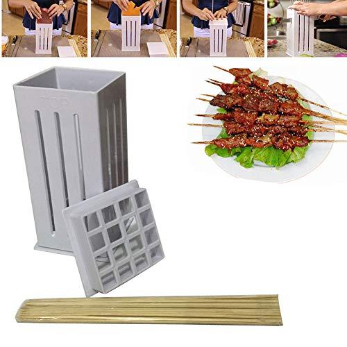 EBILUN Kebab Maker, 16 Loch BBQ Fleischspieß Maker Box Tool Kebab