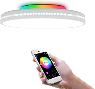 comprar comparacion OFFDARKS Smart WiFi Ceiling Light Compatible with Amazon Alexa and Google Assistant, Dimmable Modern LED Ceiling Lamp Colo...