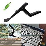 QOZY Gutter Cleaning Tool, Roof Gutter Cleaner, Gutter Scoop, Leaves Debris Shovel, for Garden,Ditch, Downspout, Sewer,Roof, Skylight, Chimney