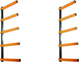 KASTFORCE KF1002 Lumber Storage Rack 5-Level System 110lbs per Level with Material Stop Holes and Durable Sheet Metal Screws, Wood Rack, Workshop Rack