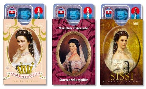 cardbox Sissi Set /// Motive: Sissi (Sisi) / Kaiserin Elisabeth /// 3er Set /// Souvenir aus Bayern: Gutschein Hüllen & Verpackung Geldgeschenk