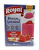 Royal Mousse de Gelatina - Sabor Fresa - 30 kcal por racion - por 5 Raciones