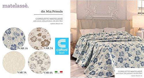 mauro Couvre-lit pour lit 2 places d'été – Tissu jacquard Matelasse – 3 variantes (VAR.4A)