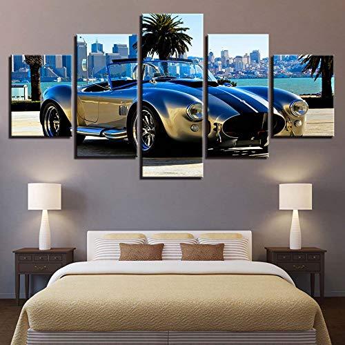aicedu Imagenes Enmarcadas Modulaire Canvas Print Schilderij Decoración para El Hogar 5 Estuches Deluxe Sport Auto Foto S Mode Nachtkastje Achtergrond Muur Art Roadster Poster-Sin Marco