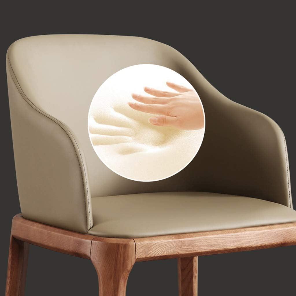 WDX- Chaise de Salle, Chaise de Bureau Simple, créative Dossier, Chaise Loisirs, Maison Adulte Chaise de Salle Confortable (Color : Light Color-A) Brown-b