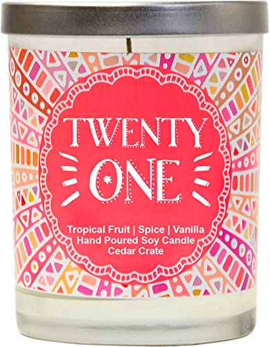 Twenty One - 21st Birthday Gifts for Her, Finally Legal, R.I.P Fake ID, 21st Birthday Candles Gift idea for Women, Happy 21st Birthday for Women, Funny Birthday Gift Ideas