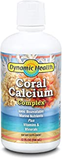 Dynamic Health Coral Calcium Complex | Bone Health & PH Level Support | Easier Than Capsules, Liquid Supplement | With Mag...