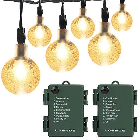 Battery Operated String Lights Waterproof 16FT 30 LED 8 Modes Fairy Garden Globe String Lights product image