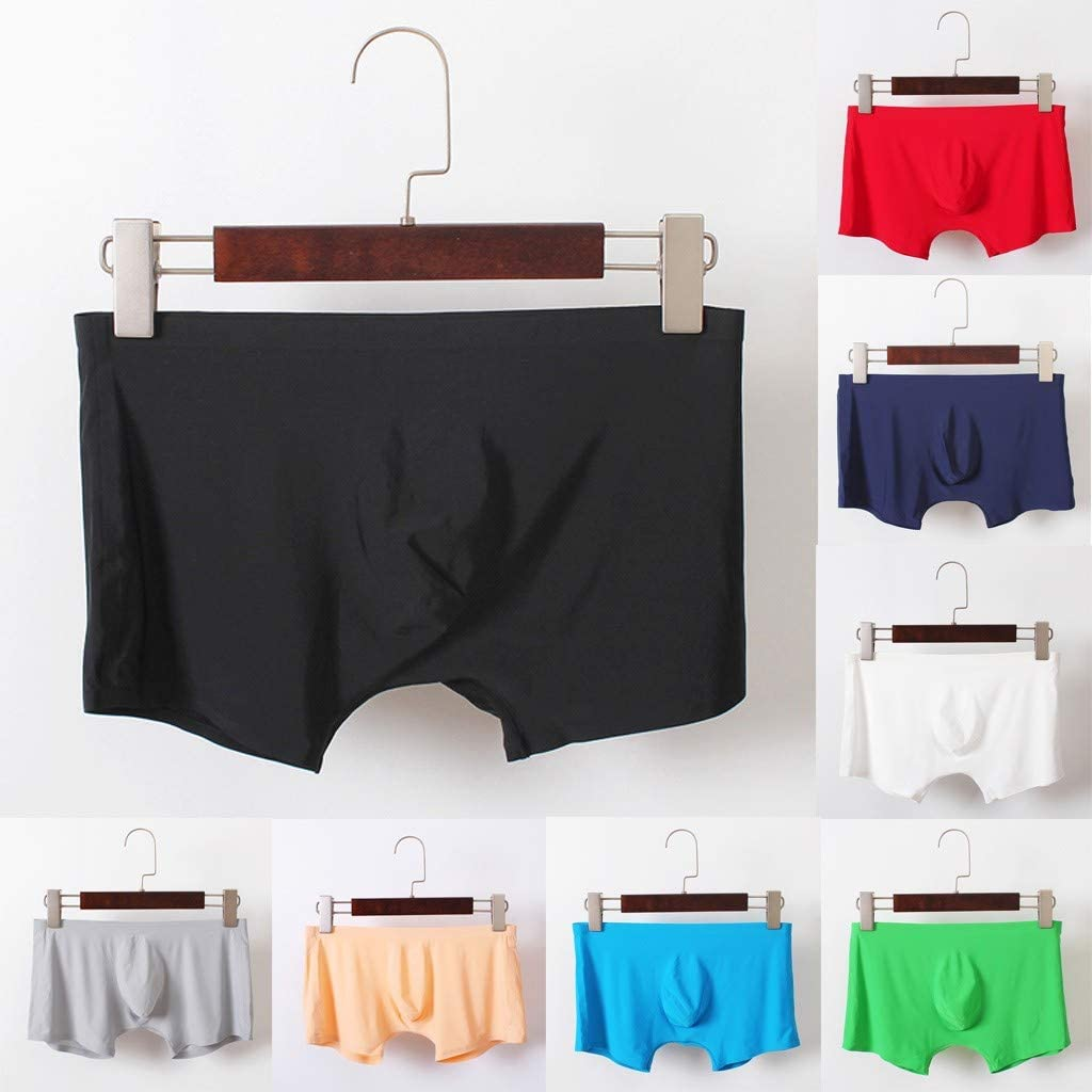 Ultra Soft Ice Silk Underwear Men Boxers Shorts Assorted Color Pack, Waistline 26 to 32 inch