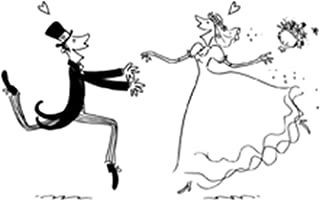 Artemio Stamp Wedding Man and Woman, Wood, black, 2.5x 5.8x 8.7cm