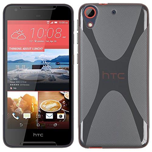 RT-TRADING HTC Desire 628 - TPU Schutzhülle X-Style X Design Hülle Schutz Cover Etui Hülle in Grau