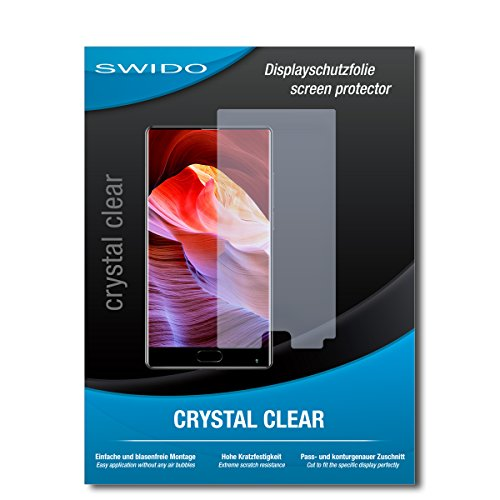 SWIDO Schutzfolie für Bluboo S1 [2 Stück] Kristall-Klar, Hoher Festigkeitgrad, Schutz vor Öl, Staub & Kratzer/Glasfolie, Bildschirmschutz, Bildschirmschutzfolie, Panzerglas-Folie