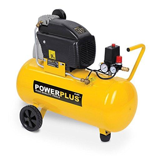Druckluft Kompressor 1.500 Watt, 2 PS, 8 bar, 50 Liter Tank - Art. POWX1760