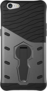 Mobile Phone Cover Case for Oppo A57 Shock-Resistant 360 Degree Spin Sniper Hybrid Case TPU + PC Combination Case with Holder (Black) (Color : Black)